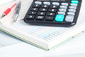 Calculator and financial books Royalty Free Stock Photo