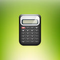 Calculator on green background vector Royalty Free Stock Photography