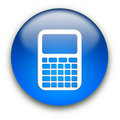 Calculator icon button Stock Photography