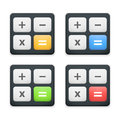 Calculator icon set of black icons Stock Photography