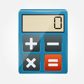 Calculator icon vector illustration this is file of eps format Royalty Free Stock Photos