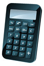 Calculator illustration an of a black shiny retro or icon Stock Photography