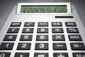 Calculator informing about carbon dioxide concentration Royalty Free Stock Photo