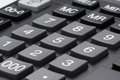 Calculator keypad gray buttons Royalty Free Stock Photo