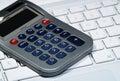 Calculator Laptop Keyboard Royalty Free Stock Photo
