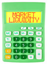 Calculator with market liquidity isolated on display on white background Royalty Free Stock Images