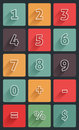 Calculator numbers mathematics flat design Stock Image
