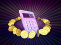 Calculator Perspective Royalty Free Stock Image