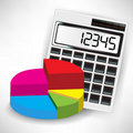 Calculator and pie chart Stock Images