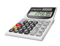 Calculator realistic electronic on white background Stock Photography