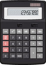 Calculator realistic vector on white background Royalty Free Stock Image