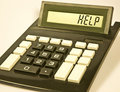 Calculator says 'HELP' Royalty Free Stock Photo