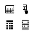 Calculator. Simple Related Vector Icons