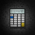 Calculator on social  background Royalty Free Stock Images