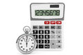 Calculator and StopWatch Stock Photos