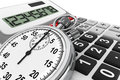 Calculator and StopWatch Stock Images