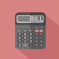 Calculator and text Bill on screen Royalty Free Stock Photo