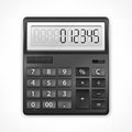 Calculator on white background vector illustration Royalty Free Stock Images