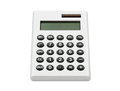 Calculator white hand pocket solar Royalty Free Stock Images
