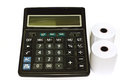 Calculator the on white paper Royalty Free Stock Photography