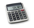 Calculator with the word salary on display Royalty Free Stock Photo