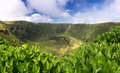 Caldeira of faial azores islands volcanic Stock Images