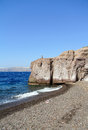 Caldera beach in santorini island greece Royalty Free Stock Photo