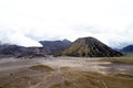 Caldera with botok and bromo volcanoes indonesia Stock Photos