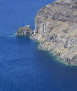 Caldera cliff aerial view of the in santorini island greece Stock Photos