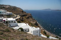Caldera resort santorini greece view of the in island Royalty Free Stock Photos