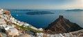Caldera view from Imerovigli terrace at Santorini, Greece 3 Royalty Free Stock Photo
