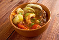 Caldo е res traditional mexican beef soup Stock Images