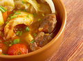 Caldo е res traditional mexican beef soup Royalty Free Stock Photo