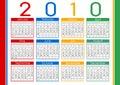 Calendar  1010 Royalty Free Stock Photo