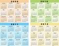 Calendar 2009, 2010, 2011, 2012 Royalty Free Stock Photo