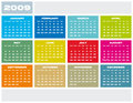 Calendar 2009. Royalty Free Stock Photo