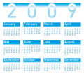Calendar 2009 blue Stock Images
