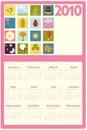 Calendar for 2010 Stock Photo