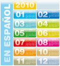 Calendar 2010 en Spanish Royalty Free Stock Photography