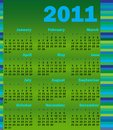 Calendar for 2011 Stock Photo