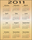 Calendar for 2011 Stock Image