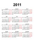 Calendar for 2011 Stock Photos
