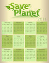 Calendar for 2011 - Save the Planet Stock Image