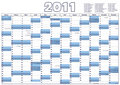 Calendar 2011 (Vector) Royalty Free Stock Image