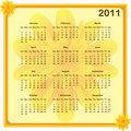 Calendar 2011 year Royalty Free Stock Photo