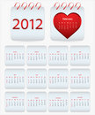 Calendar 2012 Royalty Free Stock Images