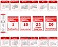 Calendar for 2012. Stock Photos