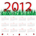 Calendar for 2012 Stock Image