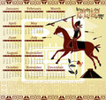 Calendar 2012 in mayan style with horseman Royalty Free Stock Photos