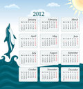 Calendar 2012 - UK version Royalty Free Stock Image